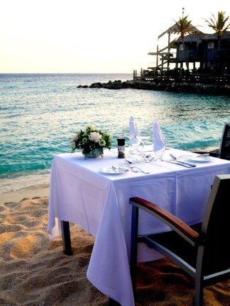 Avila hotel in Curacao strand diner - Dinner at the beach