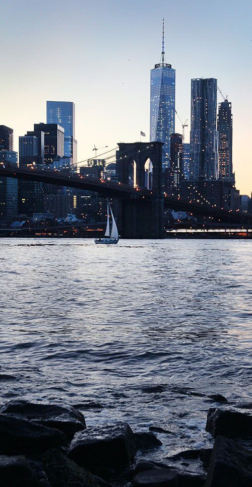Urban Landscape Photography | 1 World Trade Center & Brooklyn Bridge | NYC