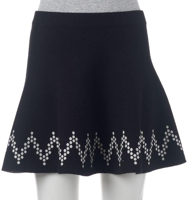 Juniors' Candie's® Chevron Sweater Skirt