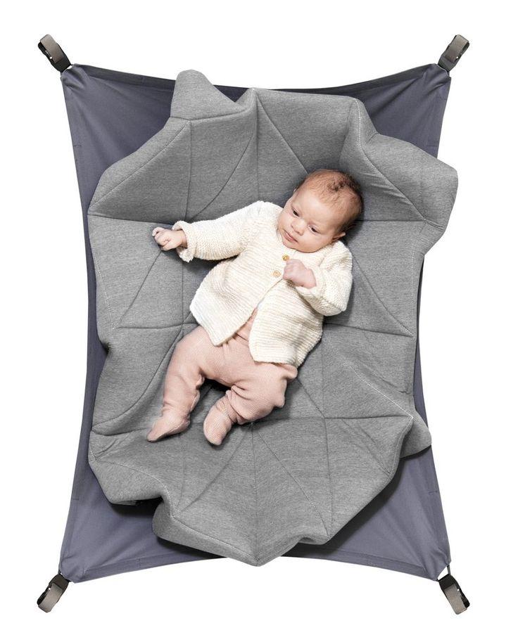 Hangloose baby hangmat/boxkleed Light heather grey - DE GELE FLAMINGO - 1