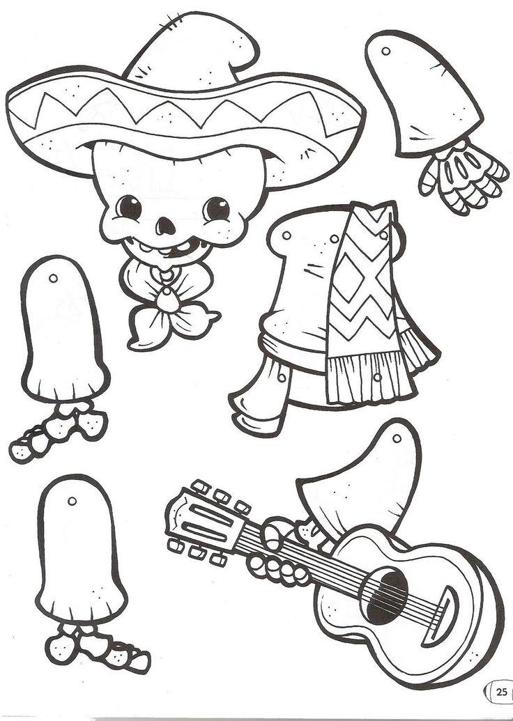 Dia de los Muertos boy paper cut colour