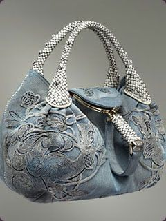 Fendi Embroidered Denim Spy Bag  No pattern just love it!!!