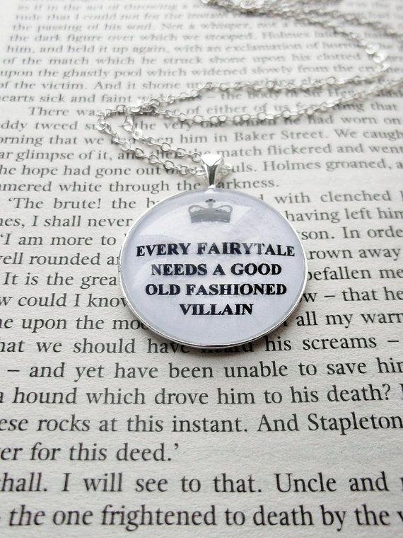 Every fairytale   Sherlock Fandom Necklace by CuriousOwlDesign, £7.99 on Etsy