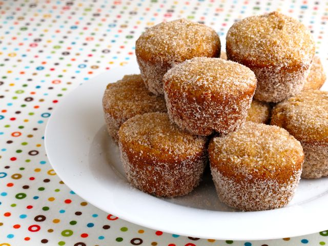 Baked Apple Cider Donut Holes | Feastie