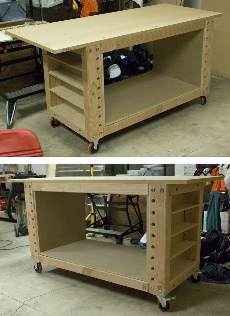 Mobile Garage Workbench Ideas : Best mobile workbench ideas on pinterest woodworking