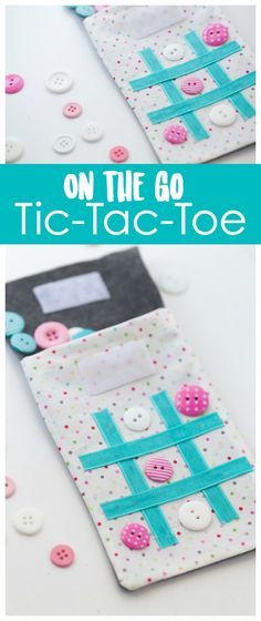 On the Go Tic Tac Toe Stitching Tutorial