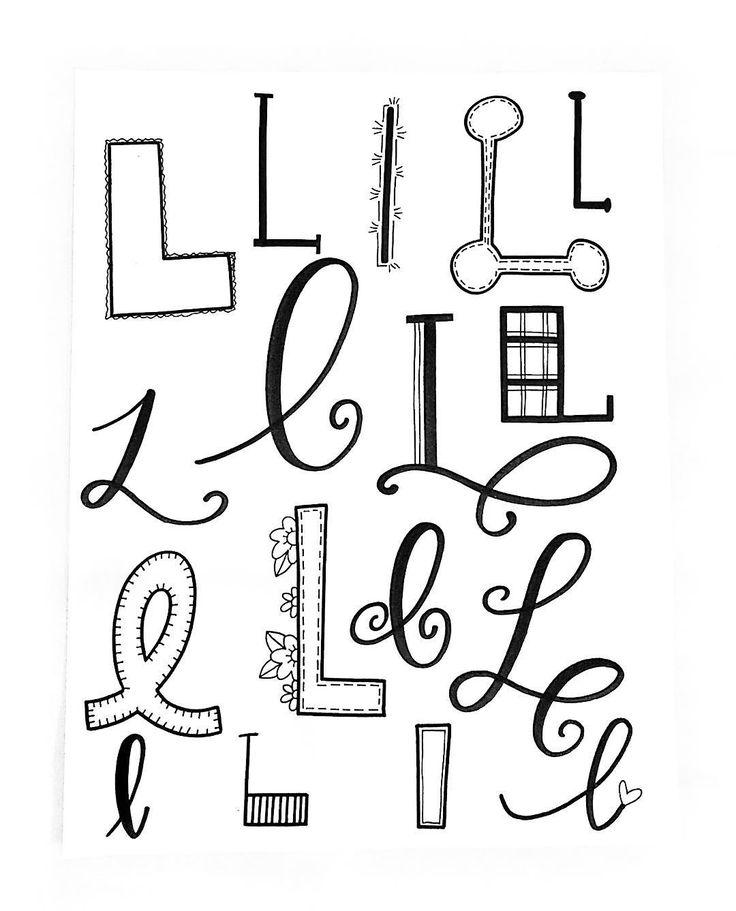 "318 Likes, 6 Comments - Jessie Arnold (@mrs.arnoldsartroom) on Instagram: ""Letter L! #handletteredabcs #handletteredabcs_2017 #abcs_l #lettering #letteringco…"""