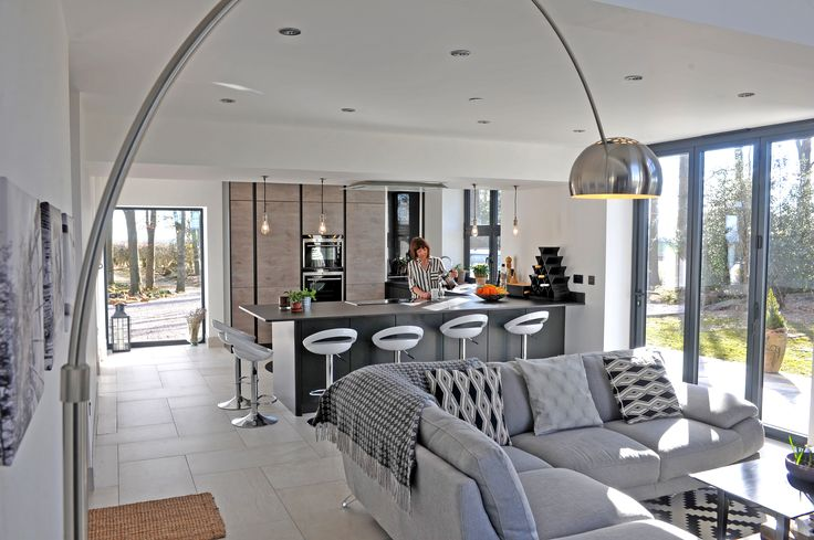 Photo by Yorkshire Post Magazine. The Water Tower featured on George Clarke's Amazing Spaces program. Kitchen designed and installed by ourselves, Arlington Interiors - Leeds