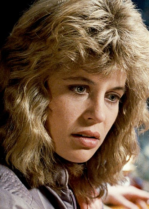 Sarah Connor (Linda Hamilton), looking VERY 80s.  #terminator