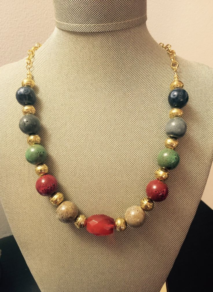 Glass Beads Necklace  https://www.etsy.com/listing/509539148/glass-beaded-necklace?ref=shop_home_active_6