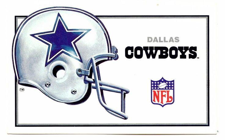 Dallas Cowboys Postcard Texas NFL Football Helmet Silver Season 1984 Unposted
