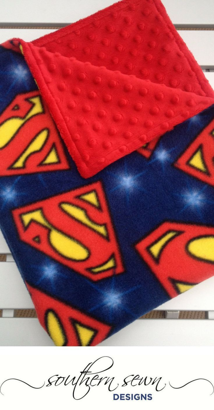 BATMAN SUPERMAN PERSONALISED BABY FLEECE BLANKET EMBROIDERED NEWBORN GIFT