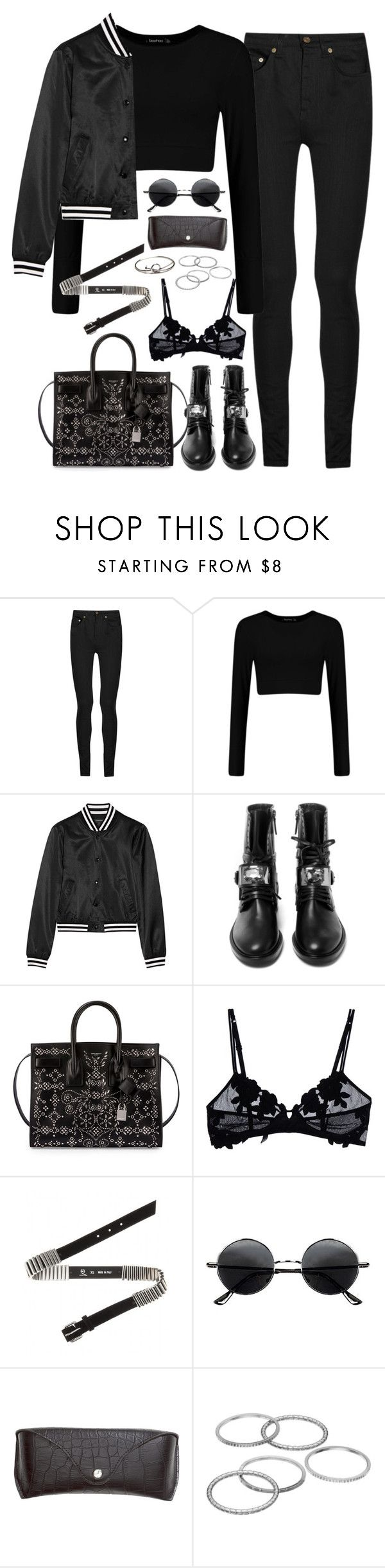 """Untitled#4518"" by fashionnfacts ❤ liked on Polyvore featuring Yves Saint Laurent, R13, Casadei, La Perla, McQ by Alexander McQueen, Retrò, H&M and Apt. 9"