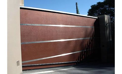 "Copper ""Retro"" with stainless strips gate and doors. Rose Bay, Sydney."
