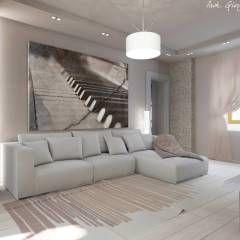 Progetto arredamento di interni: Soggiorno in stile in stile Mediterraneo di Arch. Giorgia Congiu