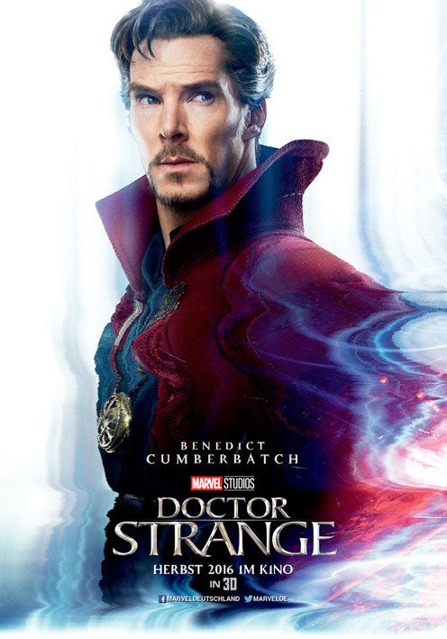 Benedict Cumberbatch as Doctor Strange - MARVEL Entertainment - kulturmaterial - German Poster