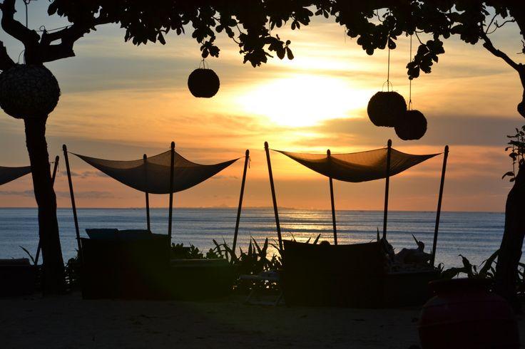 Sunset in Jimbaran Bay.