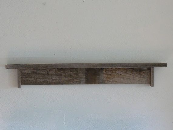Wall Shelf 36 Inch Wide Rustic Reclaimed Barn Wood