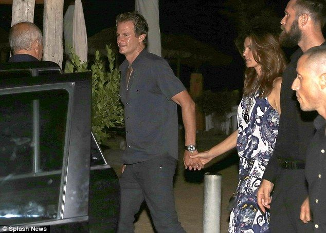 Good company: The couple were joined by Casamigos co-founder Rande Gerber, 53, and wife Cindy Crawford