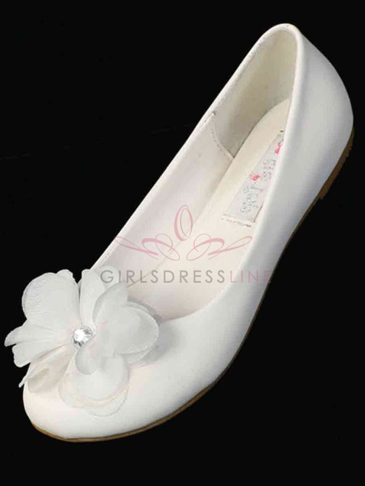 Shoes for Alyssa in cousin Leah's wedding- Ballerina slippers with Flowers for Girls - TS81 TS81 $22.95 on www.GirlsDressLine.Com