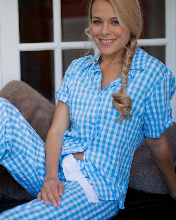 Daisy Turn Up Sleeve Check Pyjamas