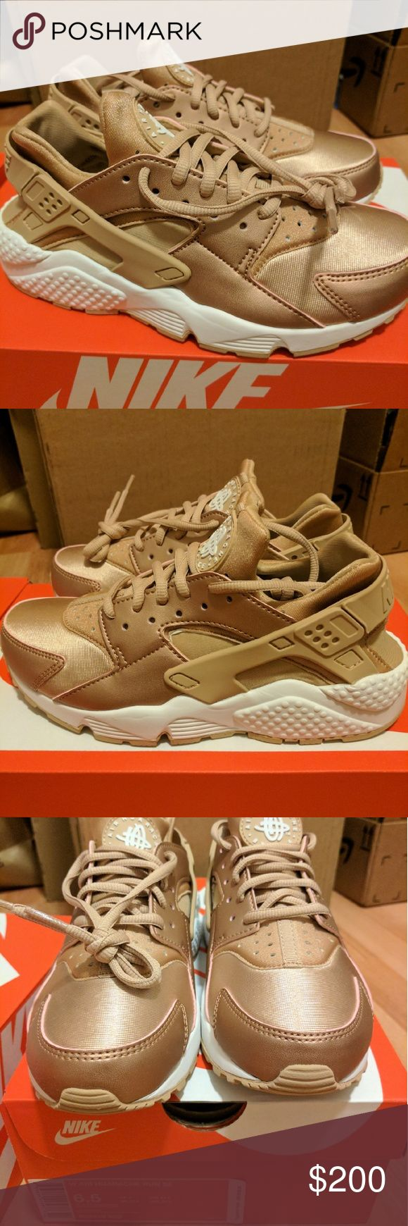 NEW NIKE HUARACHE SE ROSE GOLD LIMITED EDITION Nike women air huarache run se limited edition  Metallic red bronze rose gold color way  ***RARE AND SOLD OUT EVERYWHERE***  Size 6.5  Deadstock.  100% authentic.  Will be shipped with original box and protection box.  No trades.  Price is firm.  No returns for incorrect size, size is as described in description  Check out my account for more shoes and sizes!  Tags:Adidas, Jordan, Nike, retro, boost, Yeezy, ultra boost, prime knit, supreme, make…