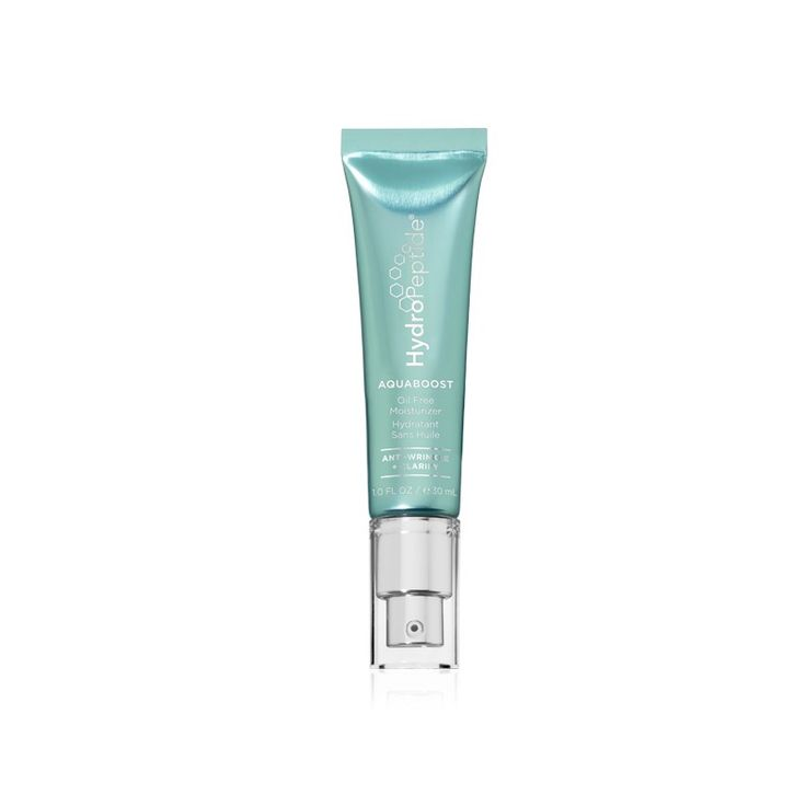 HydroPeptide AquaBoost: Oil Free Moisturiser, a lightweight, oil-free 2-in-1 anti-aging and acne control gel-cream formulated to leave behind a clearer, evenly hydrated, matte-finish complexion