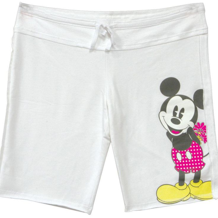 Disney - Mickey Drawstring Juniors Shorts