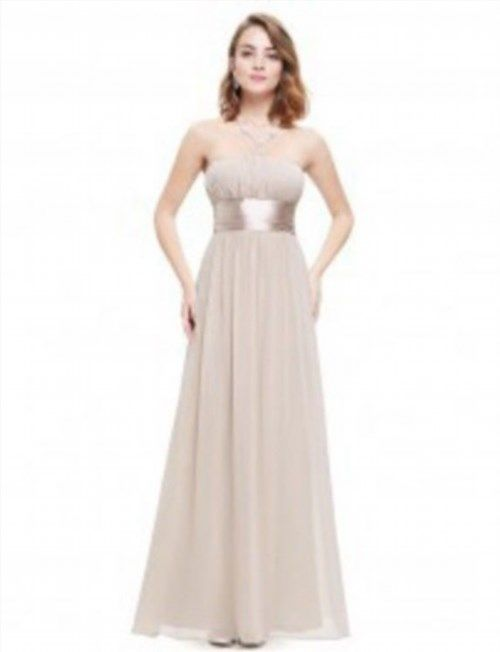 33.54$  Buy here - http://viyvi.justgood.pw/vig/item.php?t=2ushih14849 - NWT Womens Beige Strapless Long Bridesmaid/Special Occasion Dress with Sash Size 14