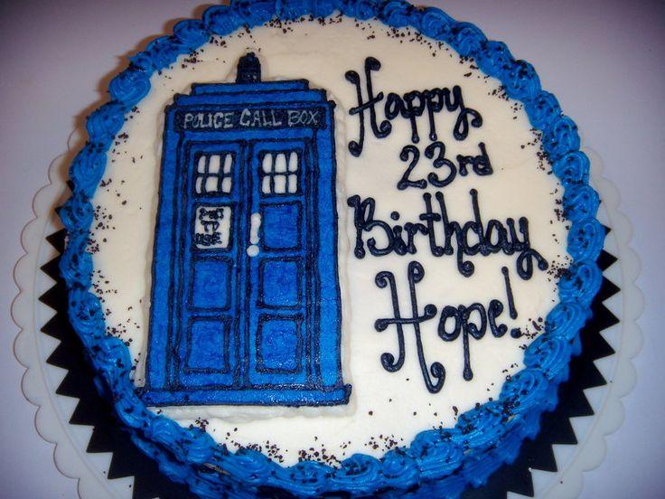 dr. who celebration cake   Dr. Who Tardis Cake - Buttercream Transfer - by apolete @ CakesDecor ...
