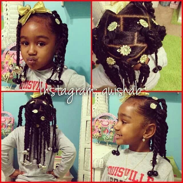 Brilliant 1000 Images About Natural Kids Pig Ponytails On Pinterest Two Short Hairstyles For Black Women Fulllsitofus