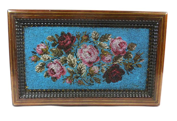 Antique beadwork box