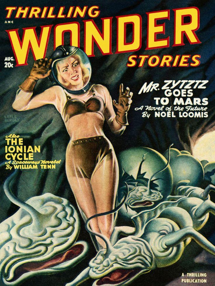 Sci Fi Thrilling Wonder Stories Featuring Mr Zytzyz Goes To Mars