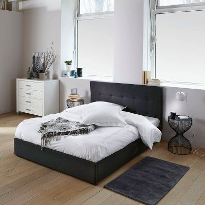 tete de lit grise capitonn e grey bedroom pinterest. Black Bedroom Furniture Sets. Home Design Ideas