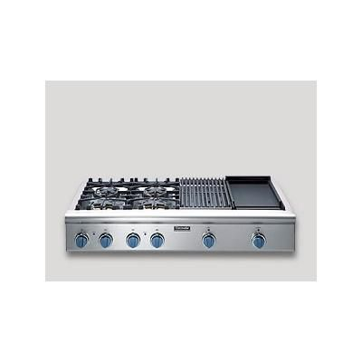 """48"""" Cooktop with 4 Star® Burners (2 with ExtraLow) Electric Griddle and Gas Grill by Thermador® on HomePortfolio"""