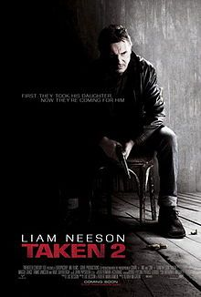 Taken 2 is a 2012 French-American thriller film directed by Olivier Megaton which stars a wide international cast including Liam Neeson, Maggie Grace, Famke Janssen and Rade Šerbedžija. It is the sequel to the 2008 film Taken. In Istanbul, retired CIA operative Bryan Mills and his wife are taken hostage by the father of a kidnapper Mills killed while rescuing his daughter.