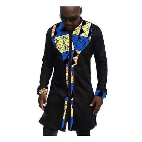 African Mens Shirts, Fashion Kitenge Dashiki Shirt, Men African Clothing-Shirt-LeStyleParfait.Com