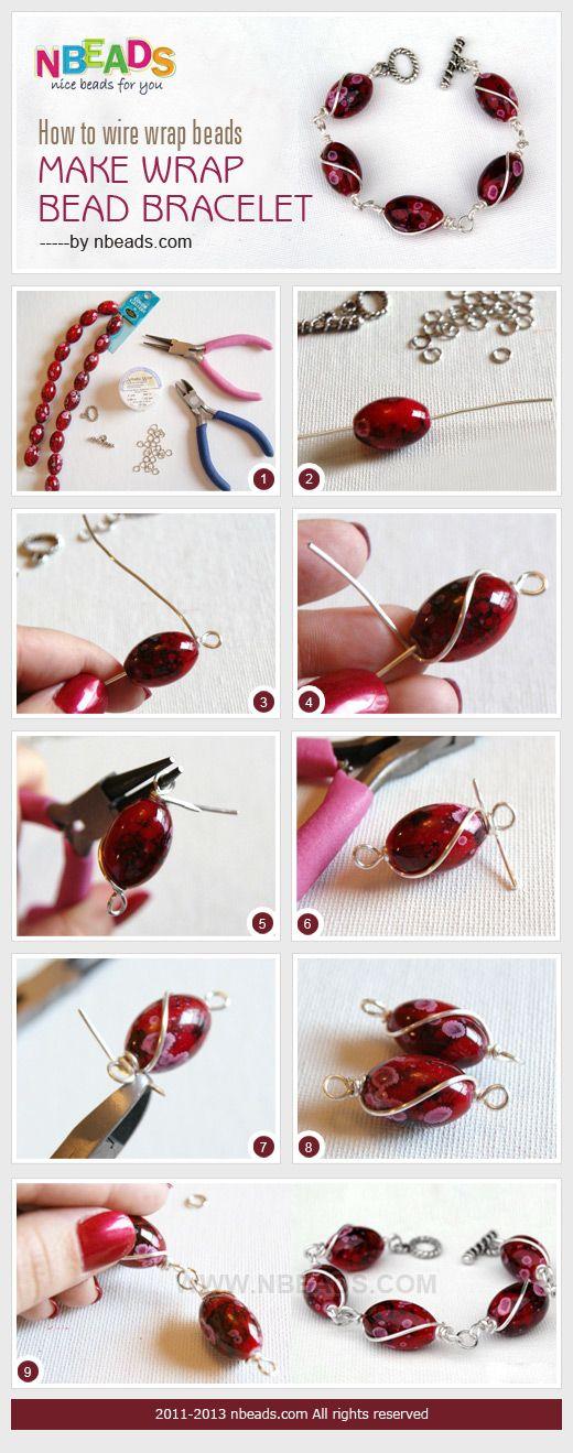 How to Wire Wrap Beads - Make Wrap Bead Bracelet