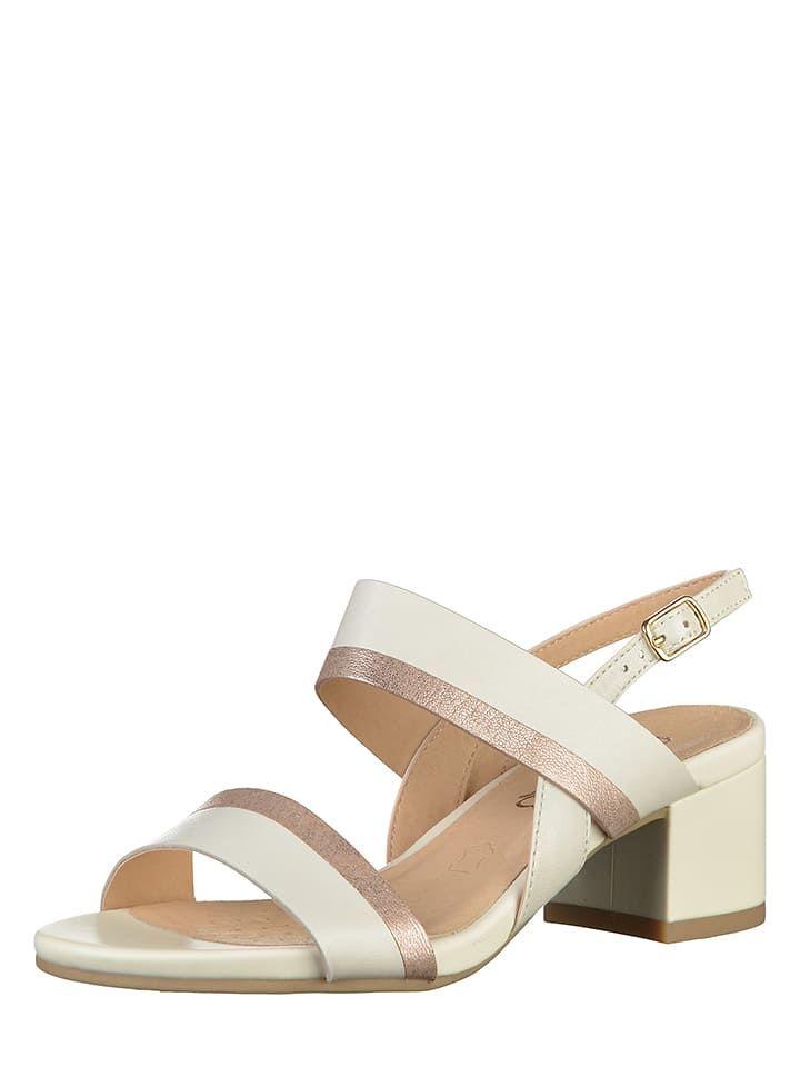 e61e6227c03a1a Caprice Leder-Sandaletten in Weiß