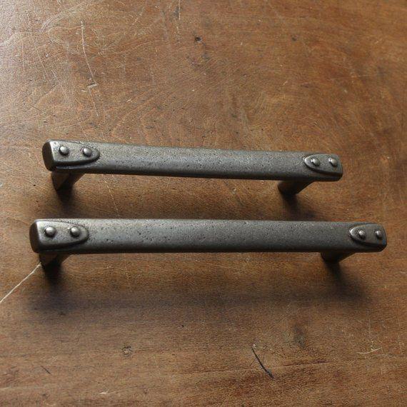"""Antique Original Cast Iron Drawer Cabinet Knob Pull 1/"""" dia."""