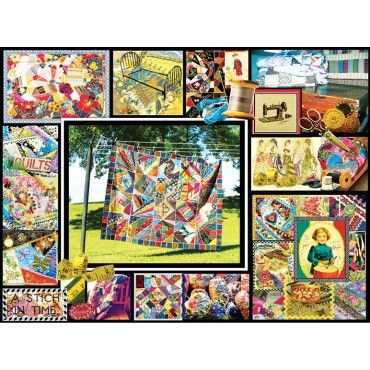 Quilt Montage Jigsaw Puzzle - Clearance