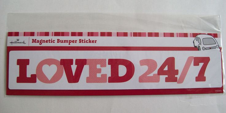 "Hallmark Magnetic Bumper Sticker ""Loved 24/7"" for Your Car Truck Van or RV New #Hallmark"