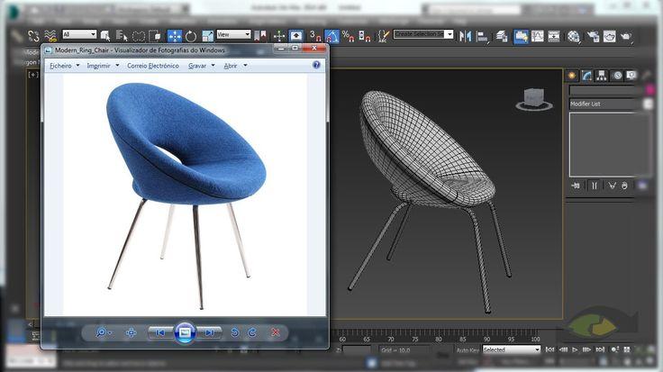 Tutorial - Modelagem de cadeira anel no 3Ds Max - Ring Chair