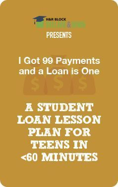 Lesson Plan – Teen Finance – Student loans, paying for college and what Jay Z has to do with it. #lessonplans Personal Finance Tips,Finance Tips, Personal Finance