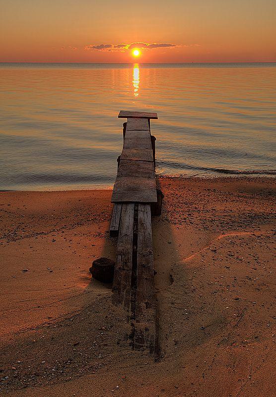 Chesapeake Bay sunset, Bridge, Water, reflection, breathtaking, beautiful, photo