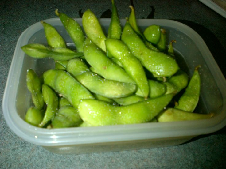 Edamame - Nutritious, yummy and serves that hand to mouth nibble craving. www.webmd.com/...