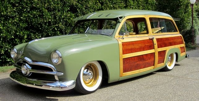 1951 ford station wagon with a 49 ford front group 36 ford tire cover set into tail gate 48. Black Bedroom Furniture Sets. Home Design Ideas