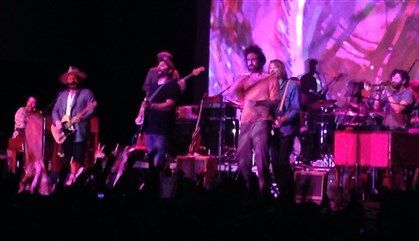 Music review: Fighting sickness, Edward Sharpe and the Magnetic Zeros rock Stage AE