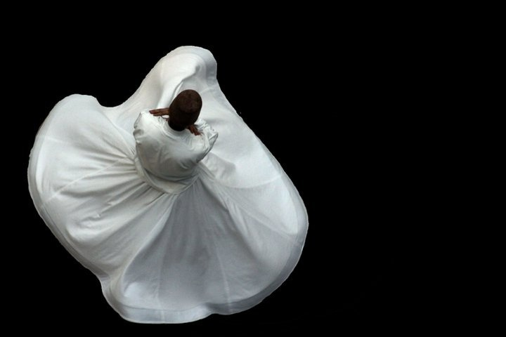 """Behind the veils intoxicated with love, I too dance the rhythm of this moving world."" - Rumi #sufism #whirling #dervish #mevlevi #sufi #rumi"