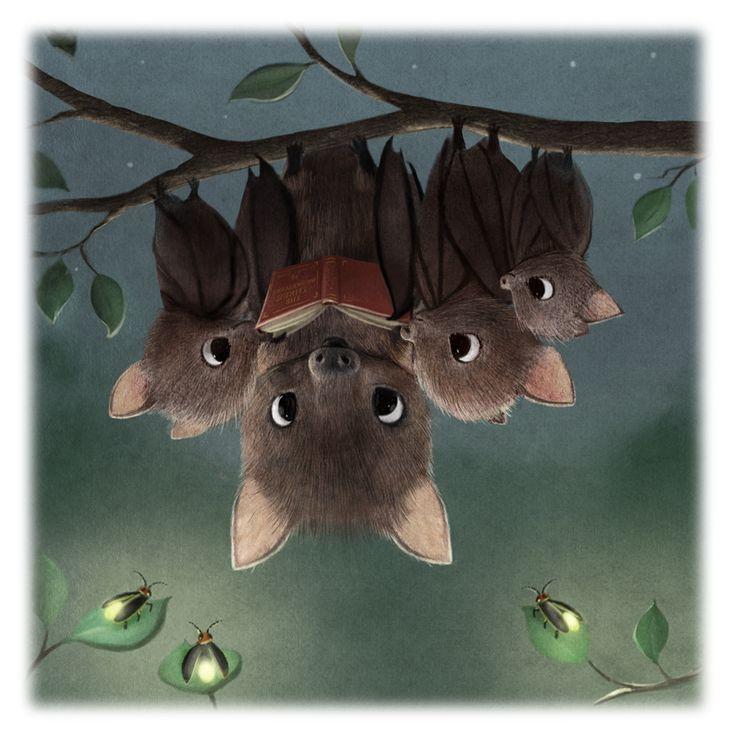 Orejas muy atentas para escuchar el cuento! (ilustración de  Sydney Hanson)